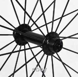 1220g 38mm Sapim Carbon Tubular Wheel Front Rear Road Bike 700C UD matt 25mm
