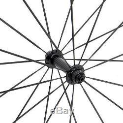 1380g Sapim 38mm Carbon Wheels Clincher Tubeless Rim 700C UD Matt Road Bicycle