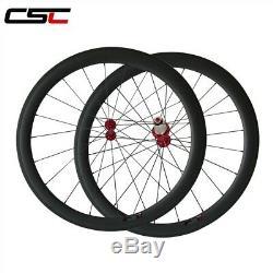 1500g only Ceramic Bearing Hubs 50mm Clincher Carbon road bike wheels