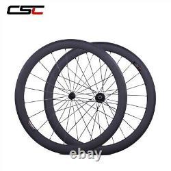 1 Day Ship Road Bike Wheels 50mm Carbon Fiber Wheelset Clincher Bicycle Wheelset