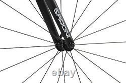 2020 New 56cm AERO Carbon Bike Frame Fork Wheel Road Bicycle Clincher V brake