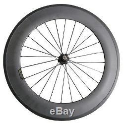 25mm Width U shape F60mm R88mm Clincher Road Bike Carbon Wheel with A271SB Hub