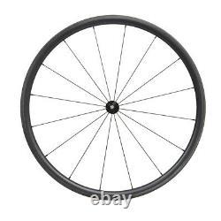 30mm Carbon Wheelset Clincher Tubeless black matt rim 700C Road bicycle wheels
