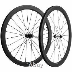 35mm Clincher Road Bike Wheelset 700C 3k Brake Line Carbon Wheels Cycle Wheel