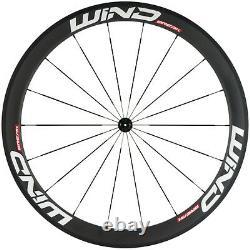 38/50/60/88mm Clincher Carbon Wheelset Road Bike/Bicycle Wheels UD Matte 700C
