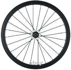 38mm Clincher Carbon Fiber wheels Road Bicycle/Bike Carbon Wheelset Racing Set