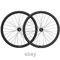38mm Tubular Wheelset Disc Brake 25mm Carbon Road Cyclocross Bike Wheels Novatec