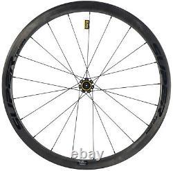 40mm Carbon Wheelset Road Wheels Ceramic Bearing 700C Clincher/Tubular/Tubeless