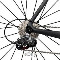 49/56/61cm Carbon bike 700C Alloy Clincher Wheels Carbon Road Bikes 172.5crank