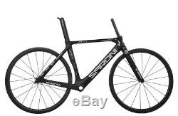 49cm AERO Carbon Road Bike Frame Wheels Rim Clincher 700C Race Cycle V brake