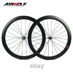 5028mm 700C Carbon Wheelset Racing Road Bike Wheels Center Lock Disc Tubeless