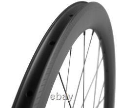 50mm 25mm U Shape Clincher Carbon Wheels Road Bike Cycle Wheelset 700C Basalt