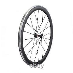 50mm Alum Alloy Brake Edge Novatec Hub Road Bike Carbon Wheels Wheelset 700C