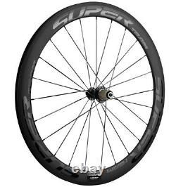50mm Carbon Wheels Road Bike Ceramic Bearing Hub Clincher Bicycle Wheelset 700C