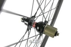 50mm Carbon Wheelset 12K Matte Weave Carbon Fiber Road Bike Novatec Hub Wheels