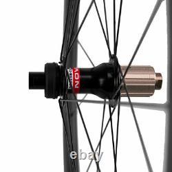 50mm Disc Brake Carbon Wheels Road Bike Disc Brake Carbon Wheelset Thru Axle Hub
