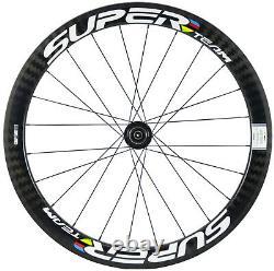 50mm Disc Brake Wheels Road Bike Carbon Wheelset 6 Bolt/Center Lock Clincher