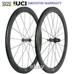 50mm Full Carbon Fiber Wheels 700C Road Bike Clincher Bicycle Cycling Wheelset
