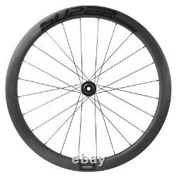 50mm Road Bike Disc Brake Carbon Wheels Axle Thru Hub 700C Disc Brake Wheelset