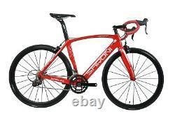 52cm 700C AERO Carbon Frame Road Bike Alloy Wheel Clincher Fork seatpost V brake