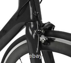 52cm Aero Carbon bicycle Road bike frame 700C Wheel Clincher Race V brake 11s