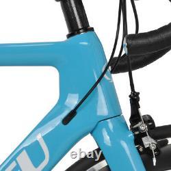 52cm Carbon Bicycle Aero Full Road bike frame Wheels 700C Clincher Fork V brake