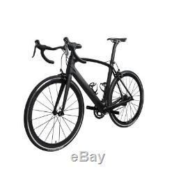 54cm AERO Carbon Frame Road Bike 700C Wheel Clincher Fork seatpost V brake 172.5