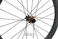 55mm Carbon Cyclocross Gravel Bike Wheel 700C Road center lock hub Disc Brakes