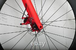 56cm 700C AERO Bike Road Disc Brake Full carbon wheels Bicycle Vehicle 700X28C