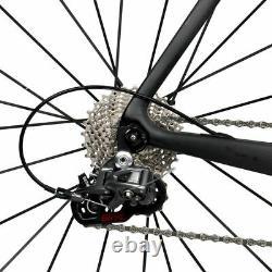 56cm AERO Carbon Frame Road Bike 700C Alloy Wheel Clincher Fork seatpost V brake