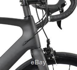 58cm AERO Carbon Bicycle Frame Road Bike Shimano 700C Wheels Clincher V brake