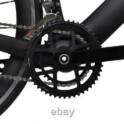58cm AERO Carbon Road Bike Frame 700C Wheel Clincher Fork seatpost V brake 172.5