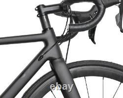 58cm Carbon bicycle Disc brake Complete road bike Race Frame Wheel Alloy 700C