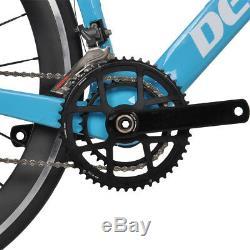 59cm AERO Full Carbon Road bike frame 700C Wheel Clincher Fork seatpost V brake