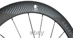 60mm Carbon Wheels Road Bike Clincher 23mm Width Carbon Cycle Wheelset 700C Bike