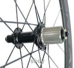 60mm Carbon Wheels Road Bike Clincher Bicycle Carbon Wheelset 700C 23mm Width