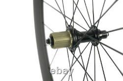 60mm Depth Carbon Wheels Clincher Road Bike Carbon Wheelset Basalt Brake Line