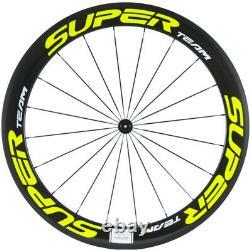 60mm Full Carbon Fiber Wheels Road Bike Clincher Bicycle Cycling Wheelset 700C