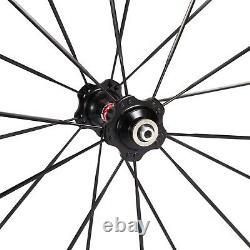 60mm Novatec Hub Road Bike Carbon Wheels Bicycle Wheelset Alum Alloy Brake Edge