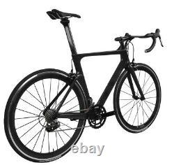 62cm Carbon bicycle Road bike frame Aero 700C Wheel Clincher Race V brake 11s