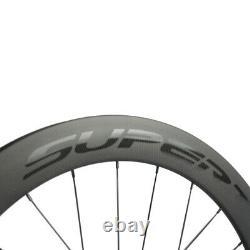 700C 38 50 60 88mm Carbon Disc Brake Wheelset Thru Axle/QR Road Bicycle Wheels