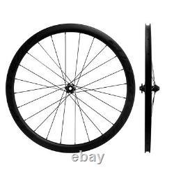 700C 38mm Carbon Road Disc Brake Wheelset Cyclocross Bicycle Wheels QR/THRU AXLE