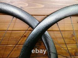 700C 45mm depth dimple disc brake carbon cyclocross road bike wheels Gravel