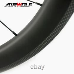 700C 5025mm Carbon Fiber Road Bicycle Wheelset Bike Wheels Wheel Tubeless