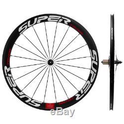 700C 50mm Carbon Wheelset Road Bike Superteam Clincher 23mm/25mm R13 hub Wheels