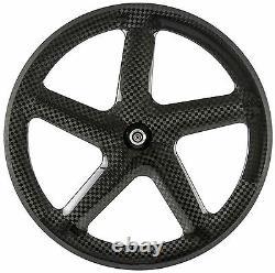 700C 56mm Five Spoke Clincher Carbon Wheels Road Bike 5 Spokes Bicycle Wheelset