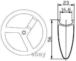 700C 56mm Track Bike Carbon Tri Spoke Wheelset 3 Spokes Carbon Wheels Road Bike