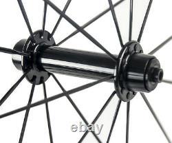 700C 88mm Carbon Wheels Road Bike 23mm Width V Shape Clincher Carbon Wheelset 3K