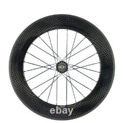 700C 88mm Clincher Track Fixed Gear Single Speed Carbon Track Wheels Road Bike