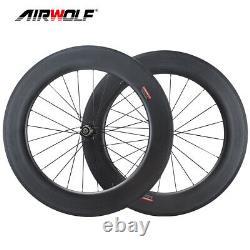 700C 90mm25mm Carbon Wheelset Road Bike Racing bicycle Wheels Clincher Rim Brake